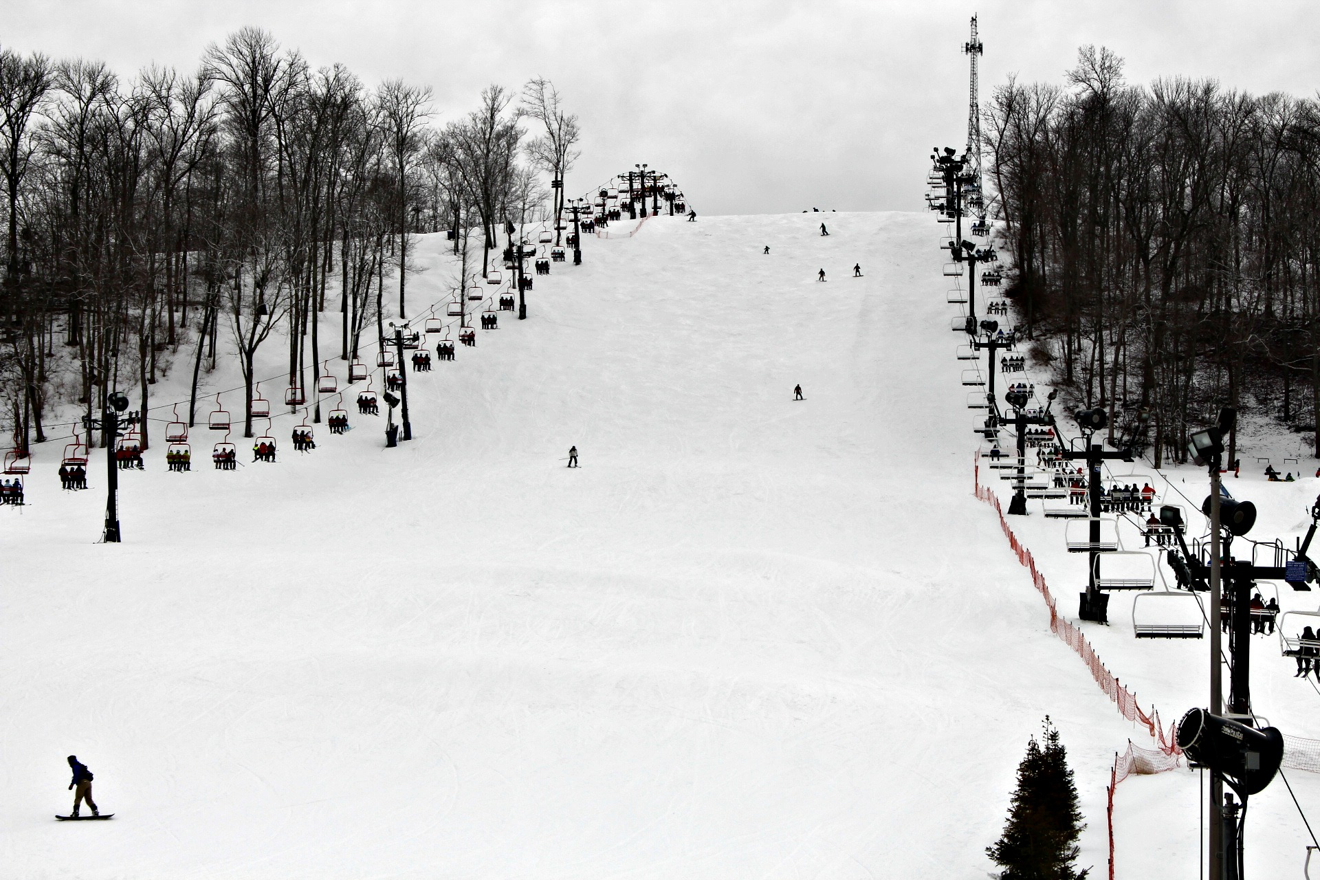One of the many slopes at the ski resort.
