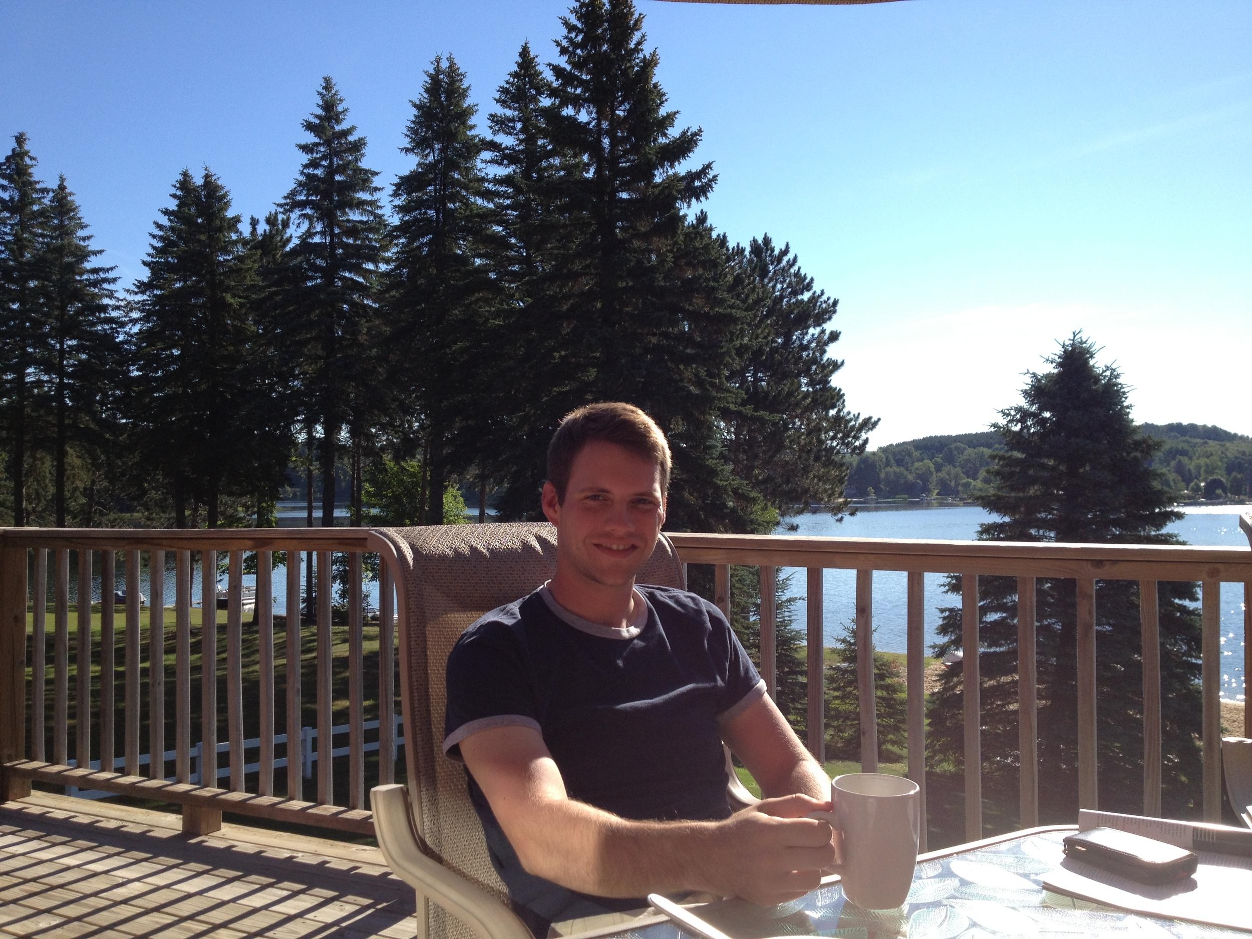 Enjoying a warm, sunny morning in Michigan.