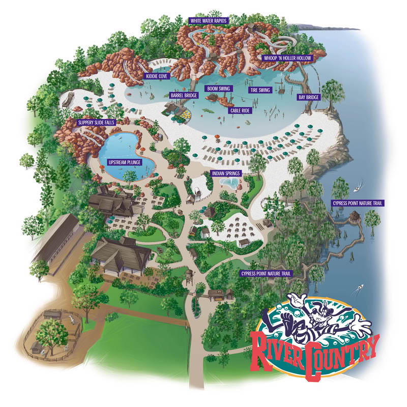 River Country park map near the end of its run. (Photo: © Disney)