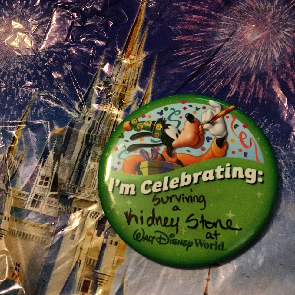 Commemorating the experience with a celebrating button.