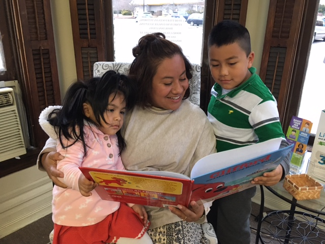 Learning to read with children - The single greatest indicator of a child's success in school is the literacy level of the parent. Our family literacy programs aim to give parents the skills they need to help their children be successful in school.