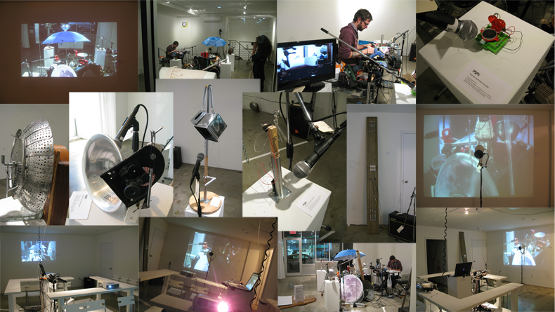 Found-object musical constructions for Fates 24 Hour Action: A 24 Hour performance residency hosted by Glasshouse