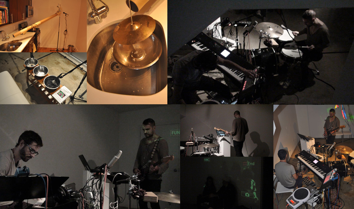 Performance and object construction during the Fates 24 Hour Action residency at Glasshouse