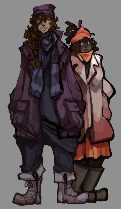"""""""Heather & Rose"""" Character Concept"""