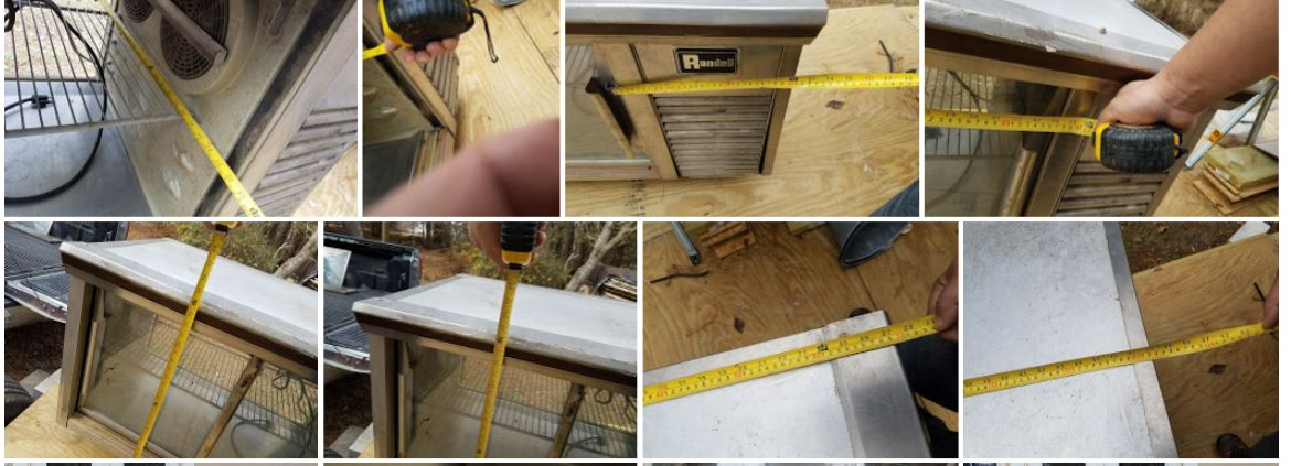 Here are the measurements 2ft x 4ft x 2ft.  Perfect for a small apartment appliance.
