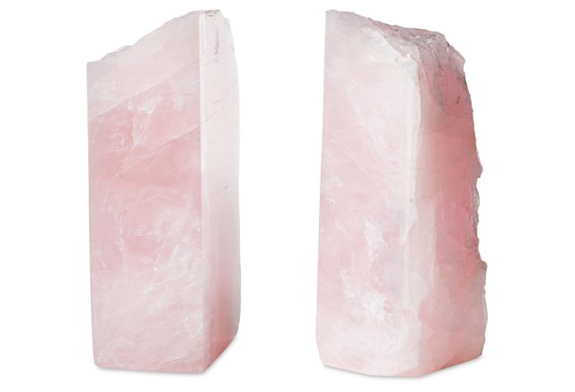 ROSE quartz BOOKEnds, one kings Lane, $179