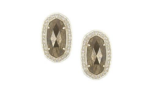 Elain Stud Earrings in pyrite, KENdra scott, $70