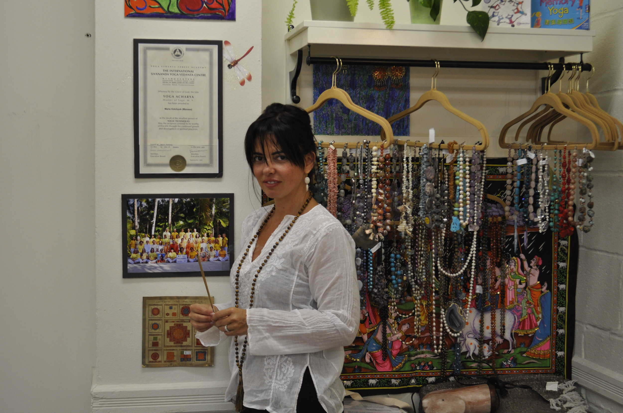 Manasa Yoga and Ayurveda Studio Crystal Shop Selling Good Luck Charms and Crystals