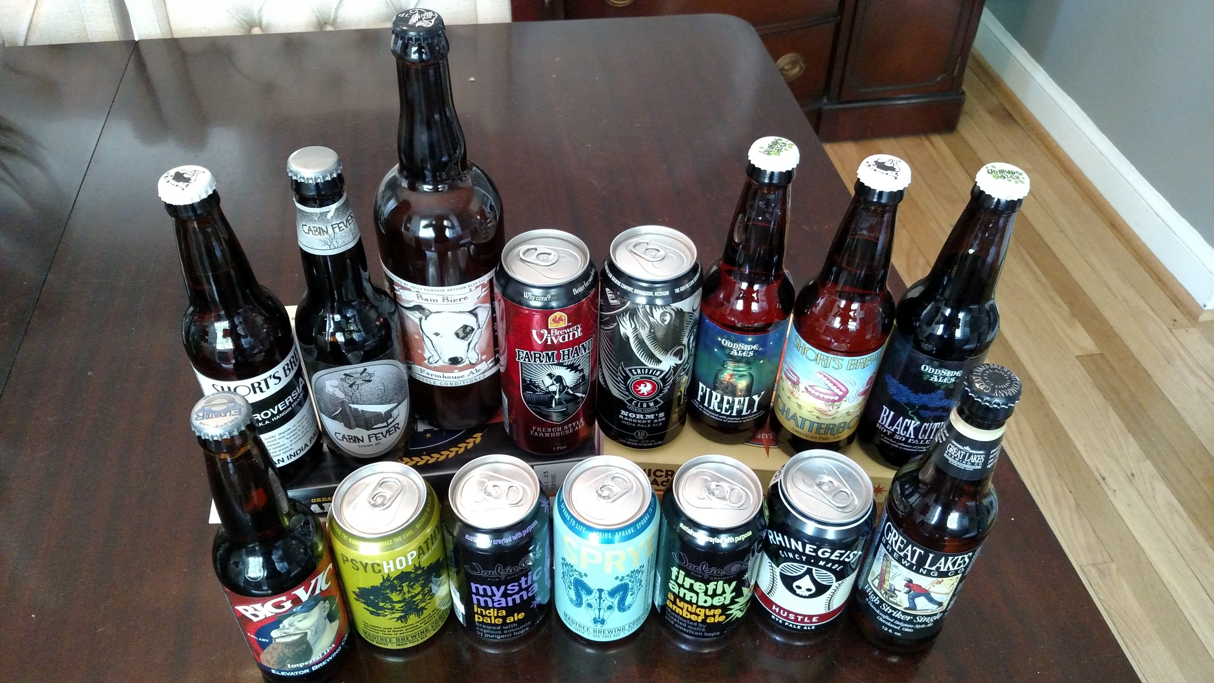 We're going to have some fun tasting these new beers over the next couple of weeks... or days.