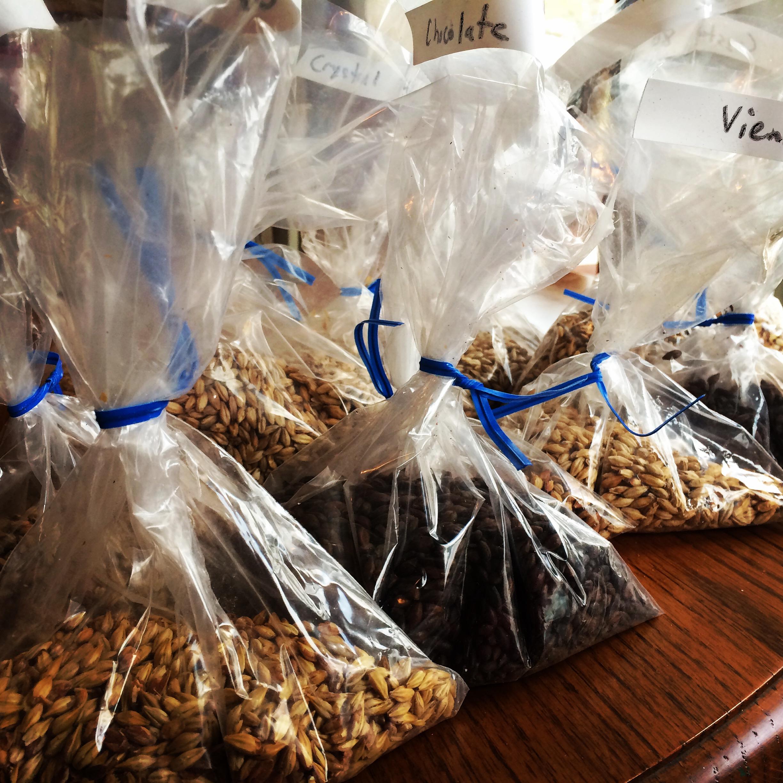 So many grains, so much homebrew