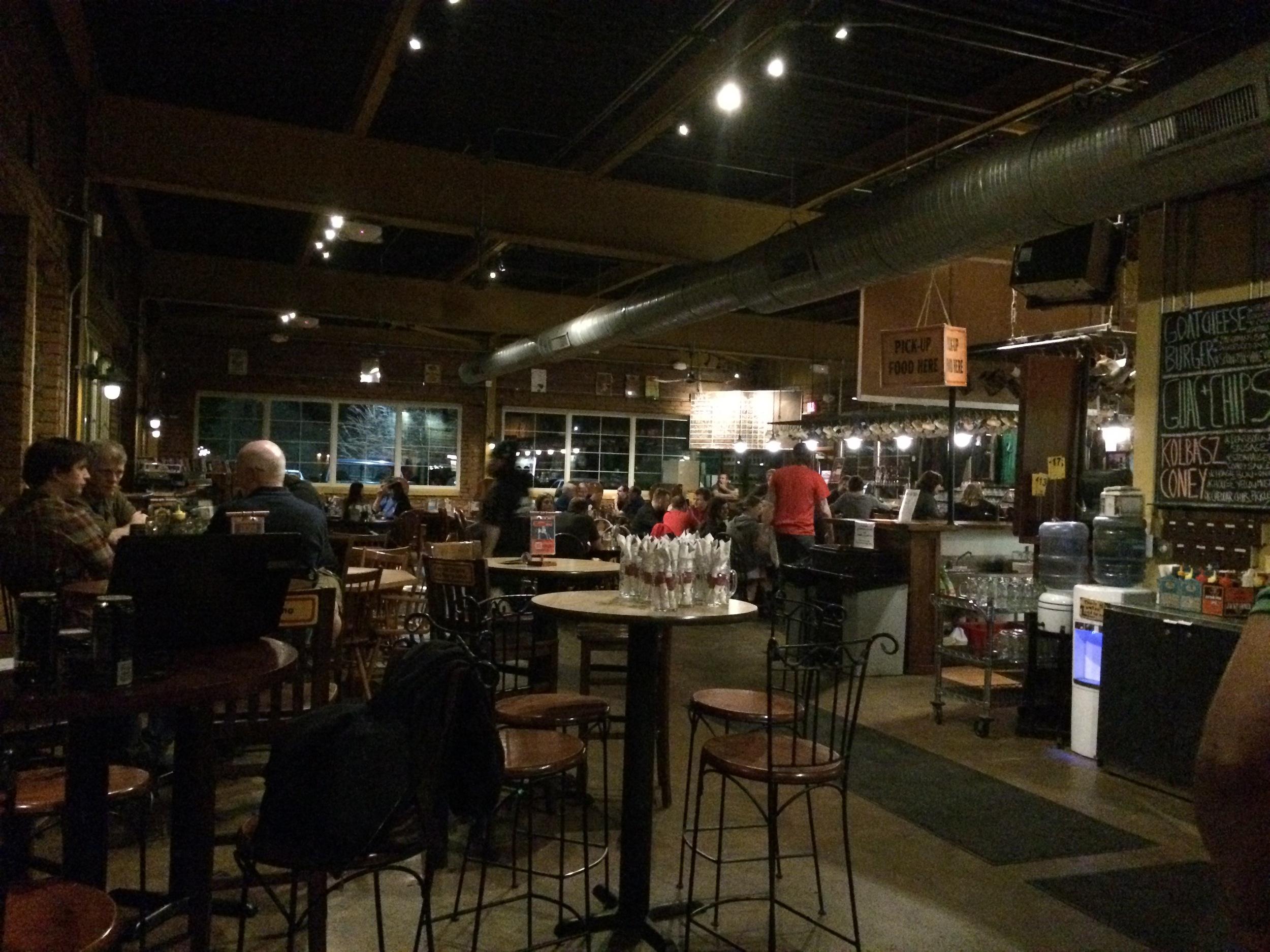 Enjoying the laid back vibe of Corner Brewery