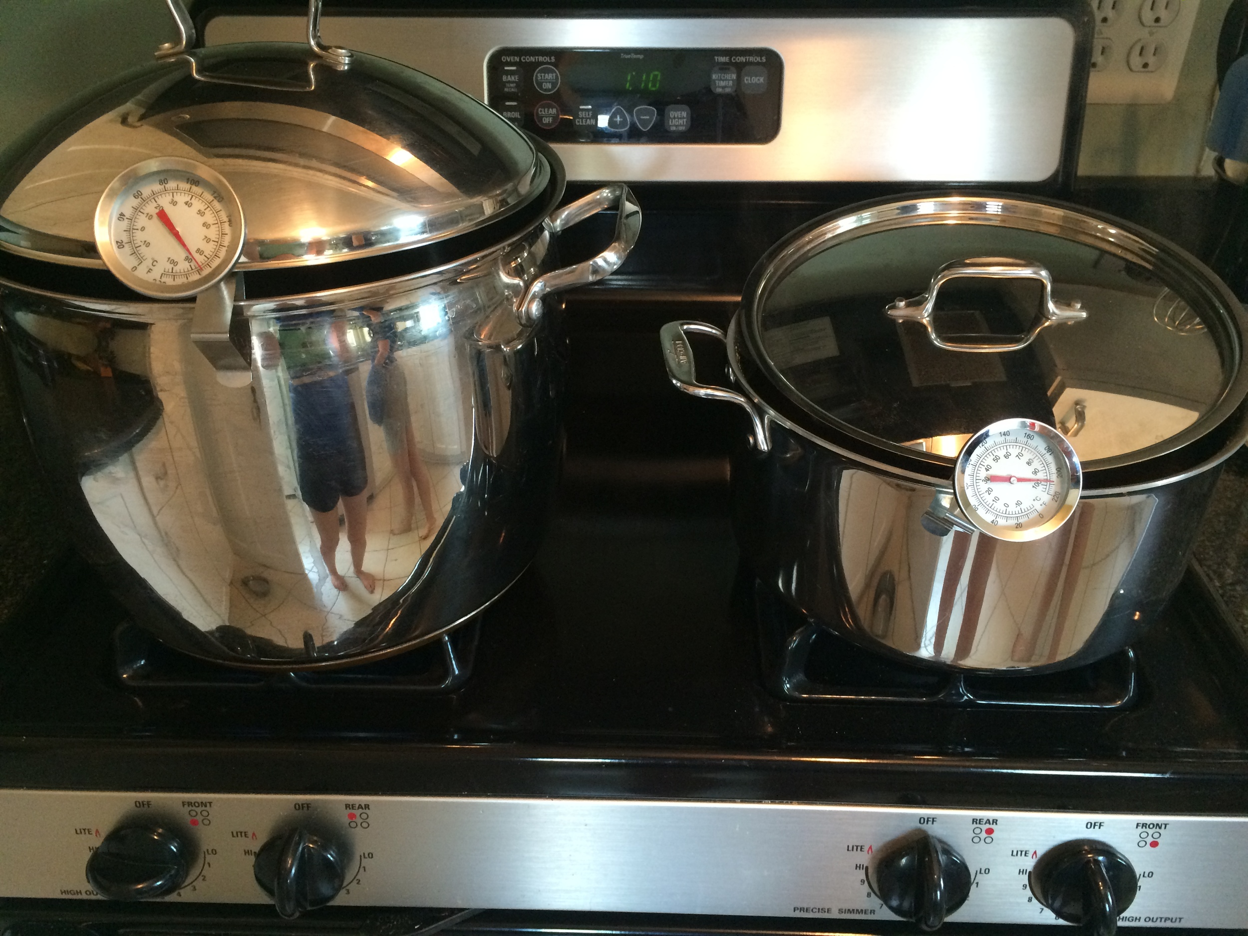 Our twins boiling away