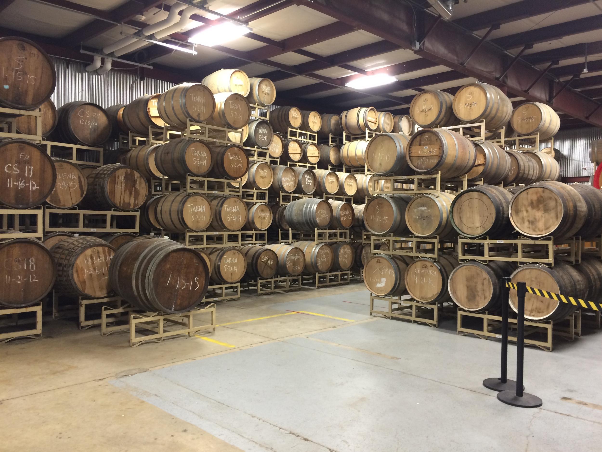 Inside Allagash's barrel agingcellar