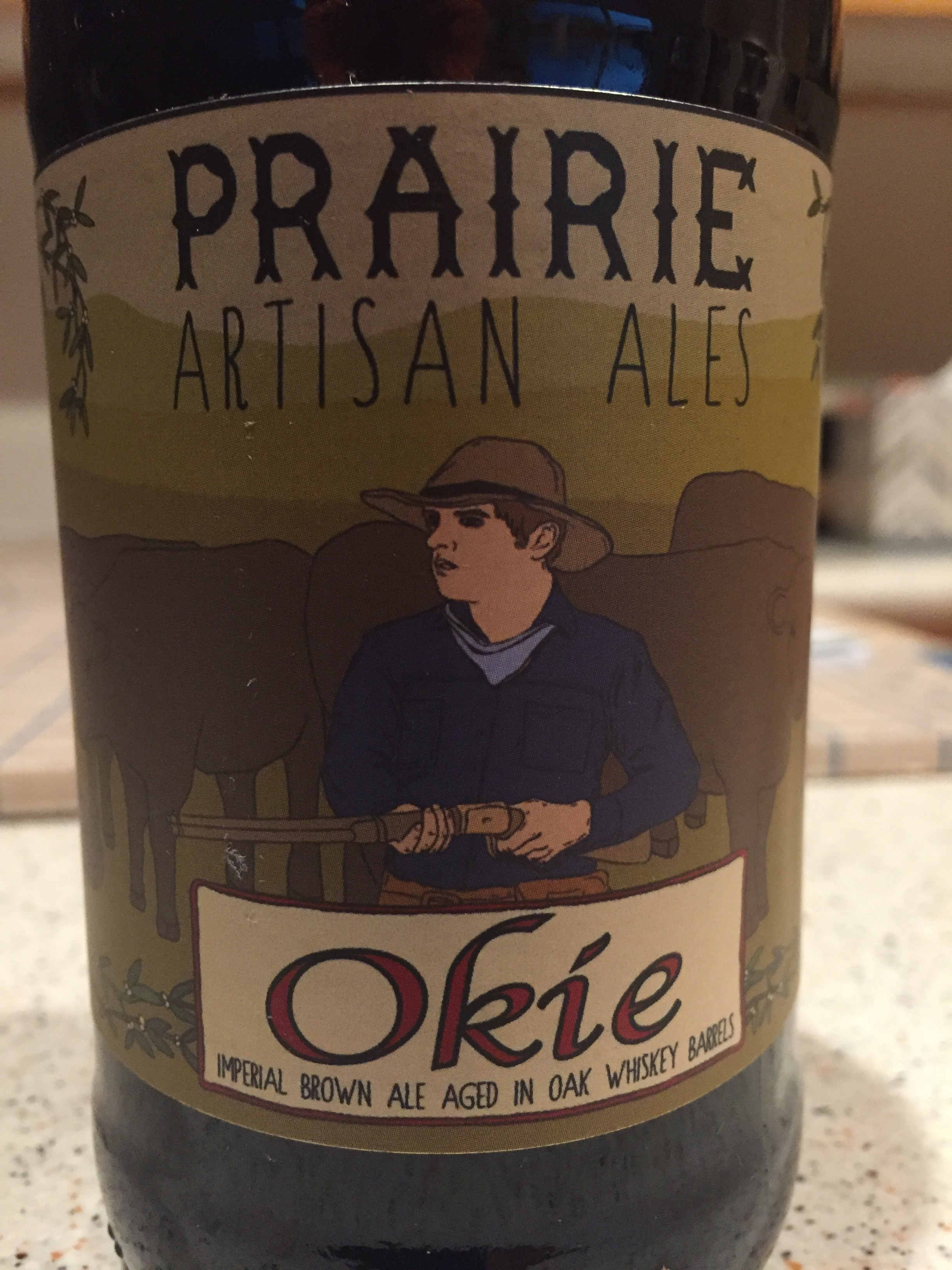 Meet the Okie - the real deal for whiskey aged beers.