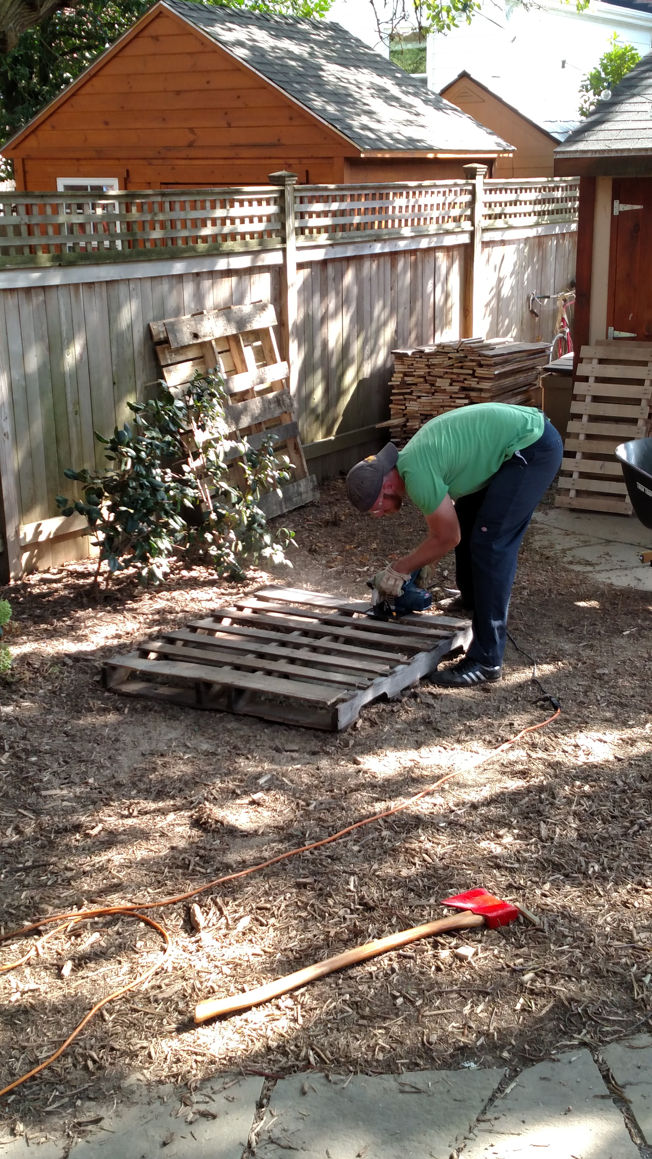 Disassembling pallet wood, by any means necessary