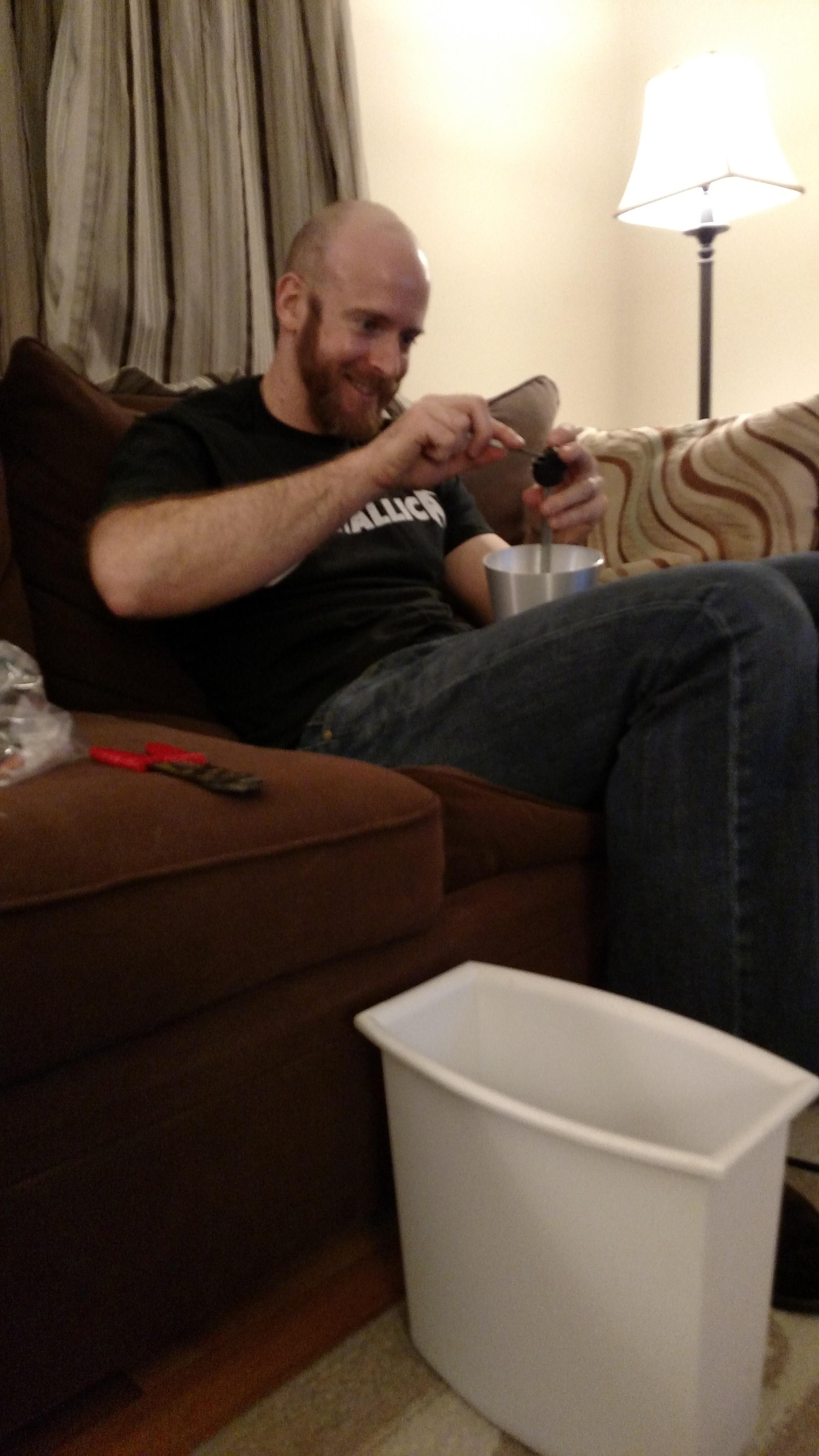Brew Hubby Eric doing a little rewiring