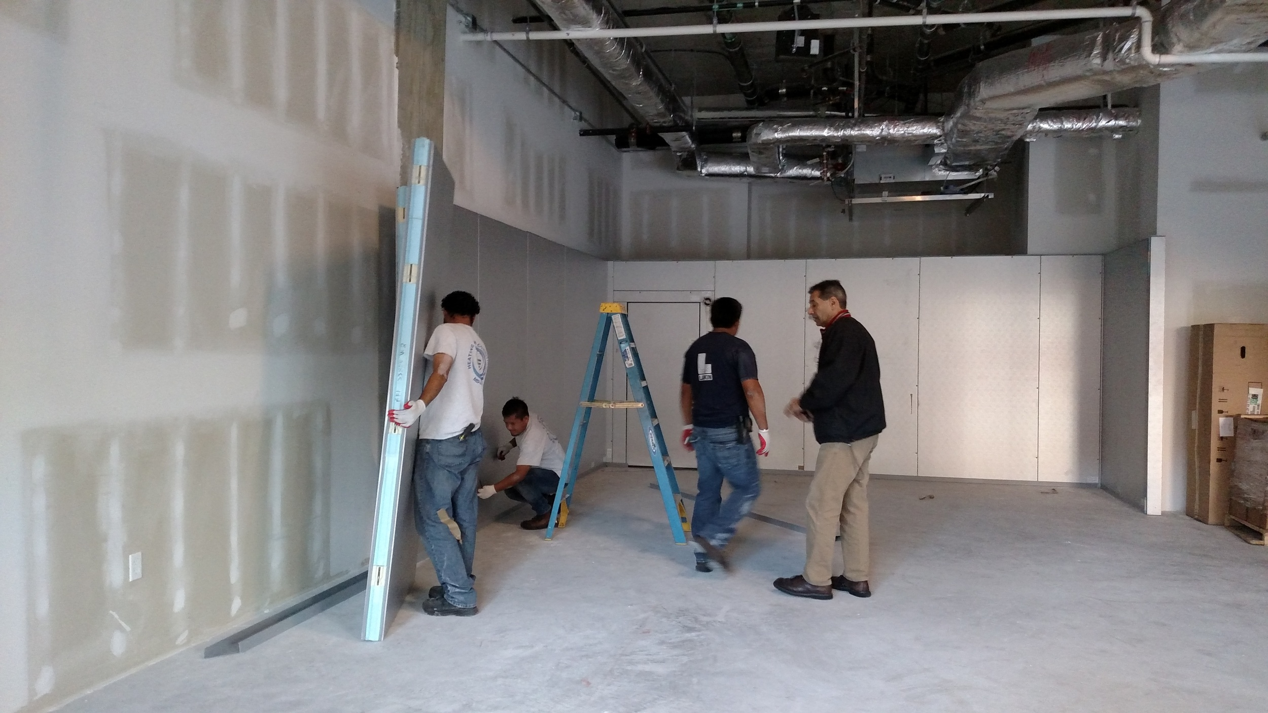 In goes the walk-in cooler