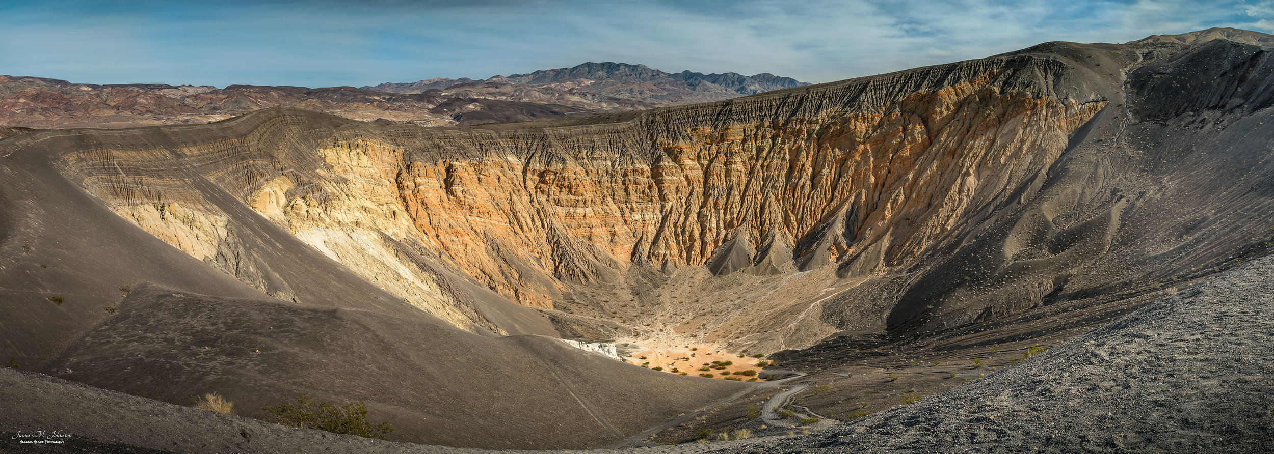 Ubehebe Crater In Panorama