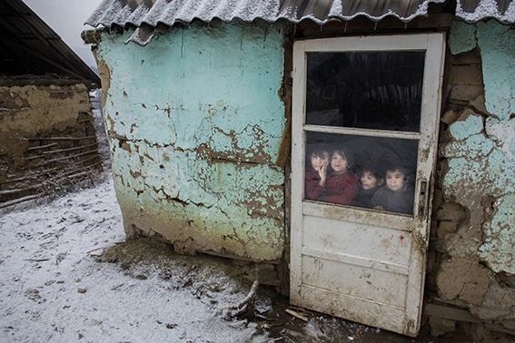 Hemma hos romerna. Sibiu, Rumänien.