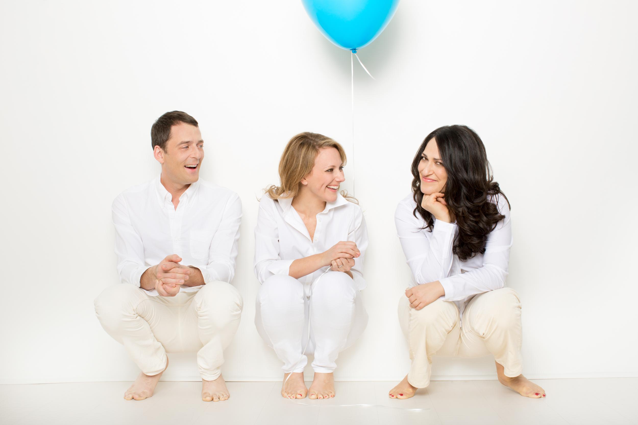 Ken Barnett, Susan Bott & Constance in  And Baby Makes Seven  (Publicity Photo: Joseph Moran)