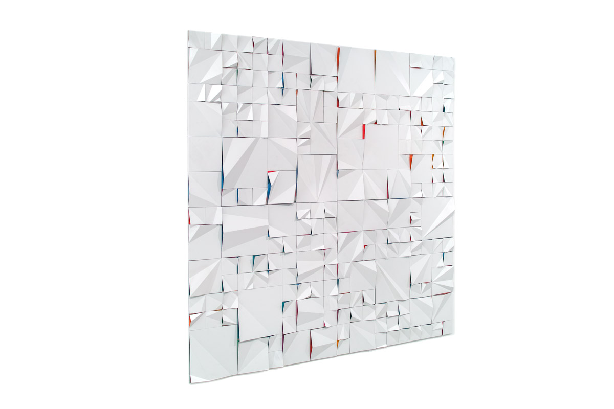 Kai (2012-2015), from 100x100 cm to 1400x400x10cm, polished and painted aluminum