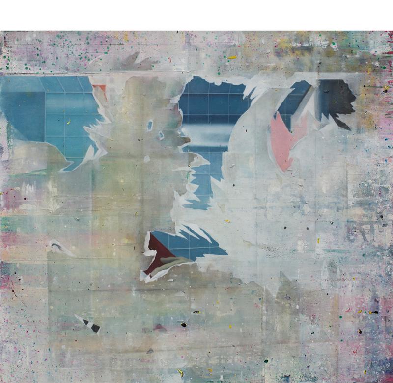 Composition # 02,    2016-17, Oil on canvas, 90 x 100 cm