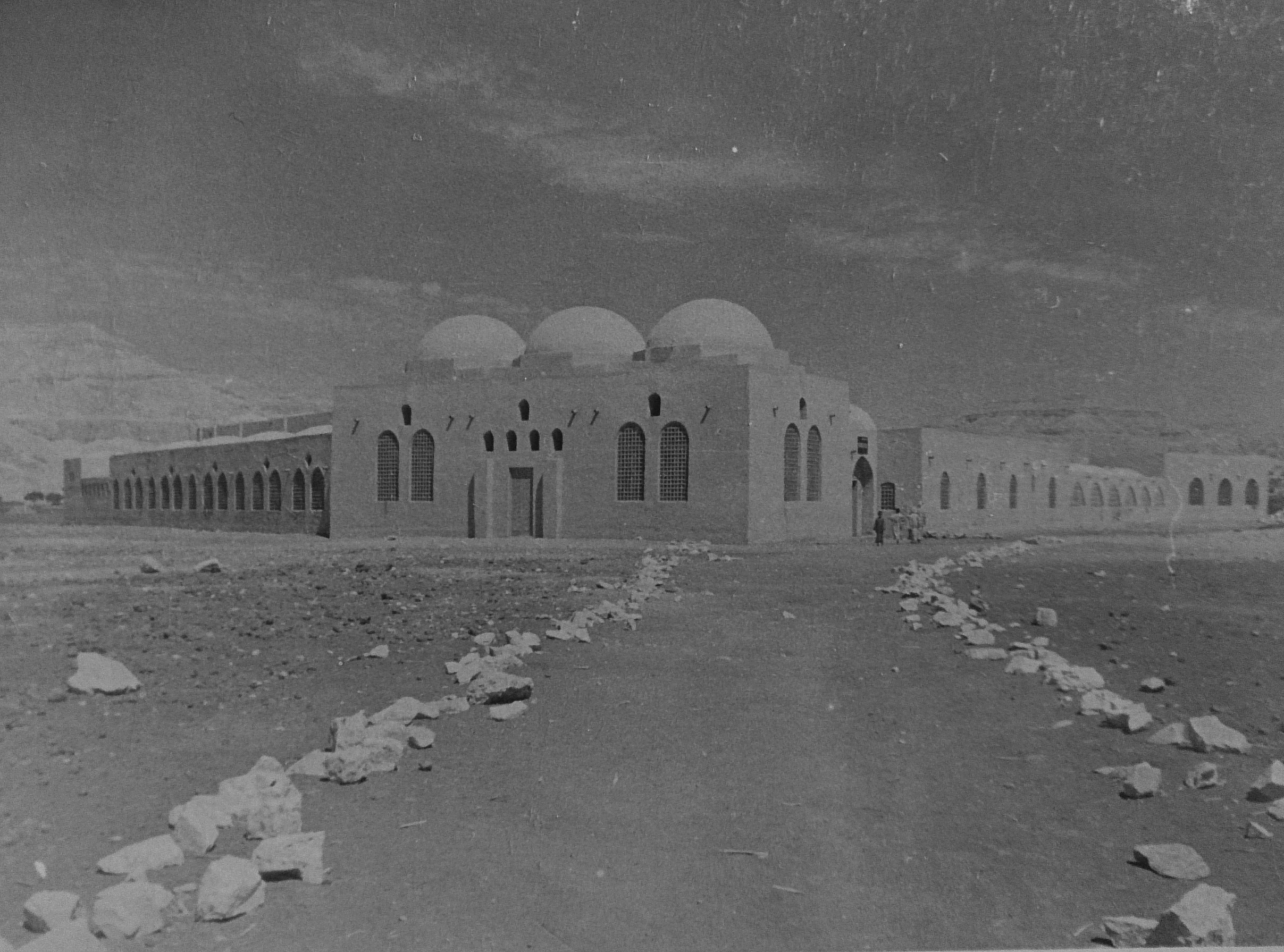 New Gourna, Luxor, Egypt, ca. 1950. Courtesy of Hassan Fathy Archives, Rare Books and Special Collections Library, American University in Cairo.