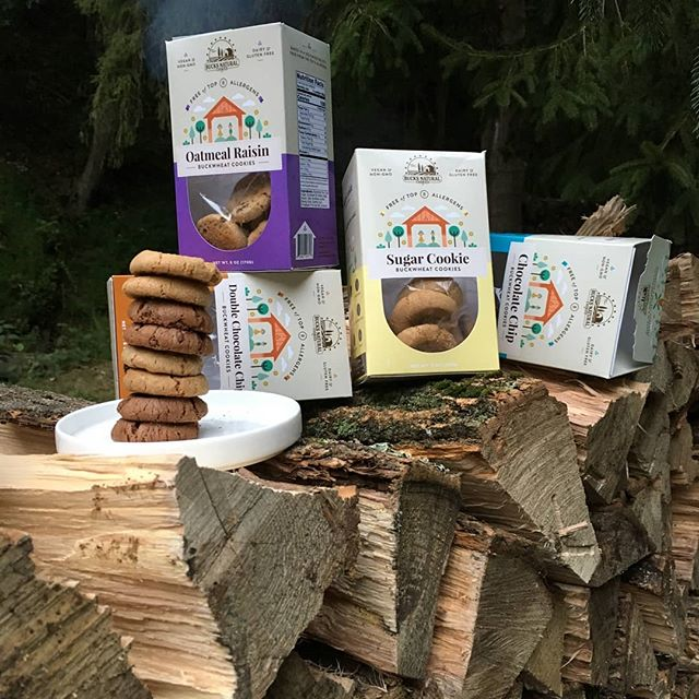 Stack on a stack! After working hard we all need a tasty treat  #vegan #top8free #glutenfree #betterwithbuckwheat