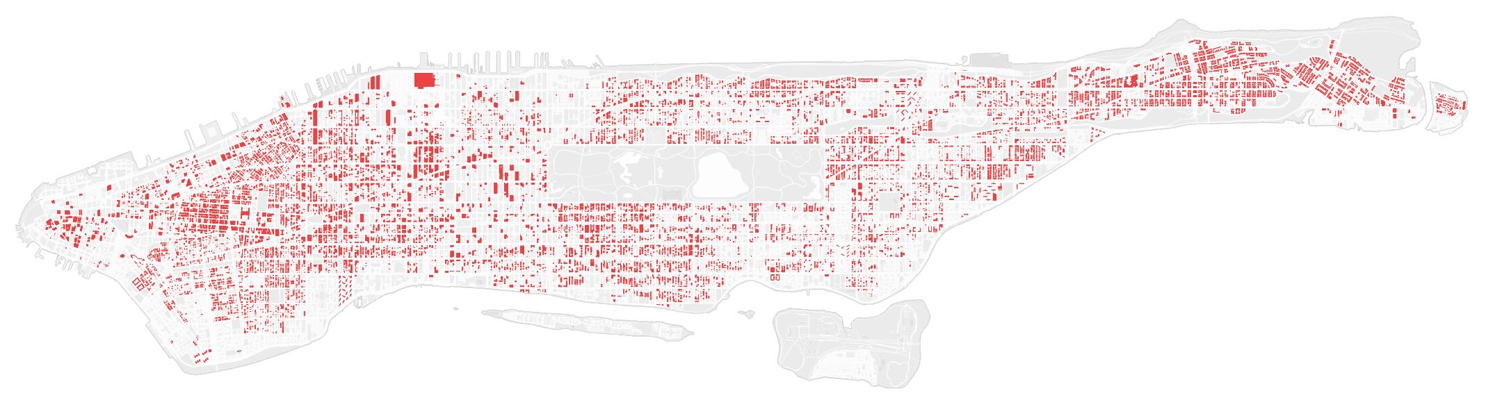 Все эти здания не соответствуют строительному коду города Нью-Йорка