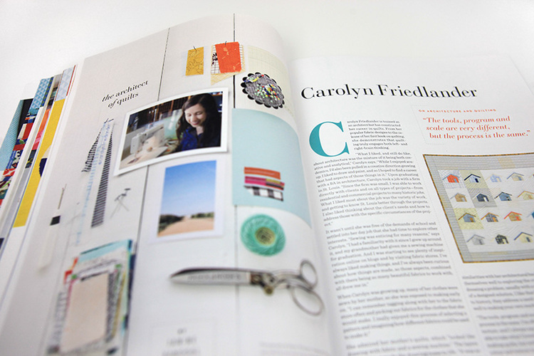 A peek inside the current issue of Uppercase Magazine.
