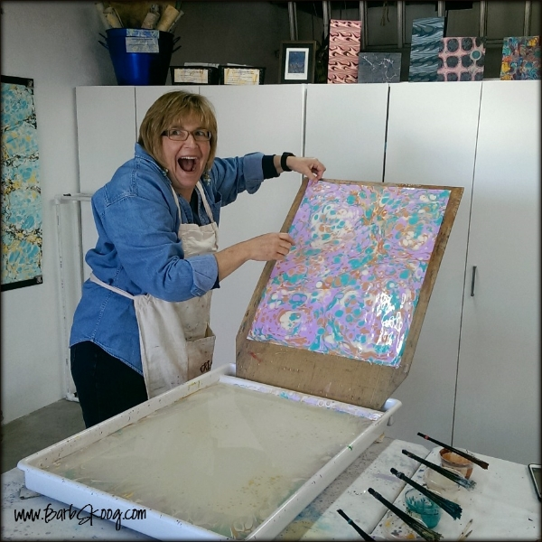 Never gets old ~ the joy of the first marbled piece!