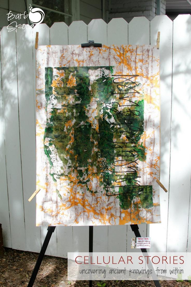 """Urban"" work. Rubbing, paint slides, graffiti, marbling."