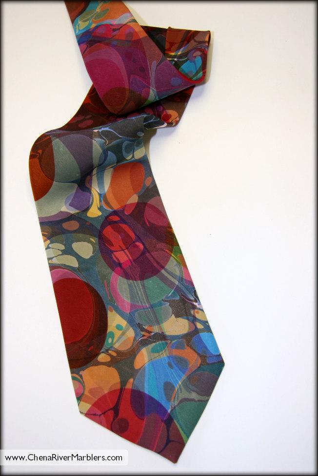 Marbled Silk Tie