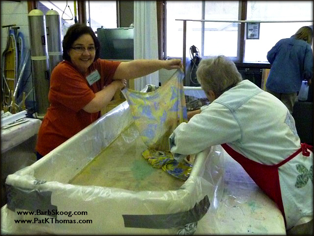 Fabric marbling class at Arrowmont