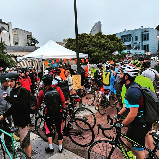 I always love bike to work day! Bikers are an amazing community that cares about access to clean, fast, reliable and fun transit. I had an amazing day! 43 miles later!! Thank you to everyone who makes this happen, especially the @sfbike #sfbikecoallition, #SF2G, #Google and of course my support penguin @asianninja32 ! #bikesf #btwd2019