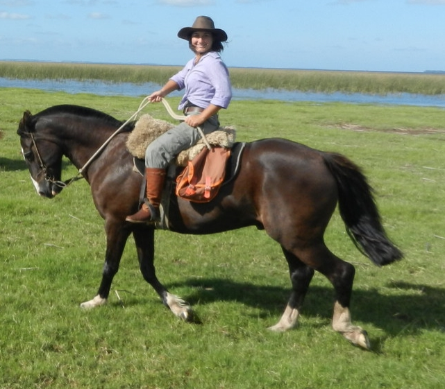 Florencia - has been riding since she was young and is a true nature lover. With a degree in Biological Sciences and work in Biological Investigation, wildlife research projects and as consultant ornithologist for wind-farm installations, she is great at spotting local wildlife and is hugely knowledgeable about her country. She is one of our trusty Uruguay guides and is available for private tours and set dates.