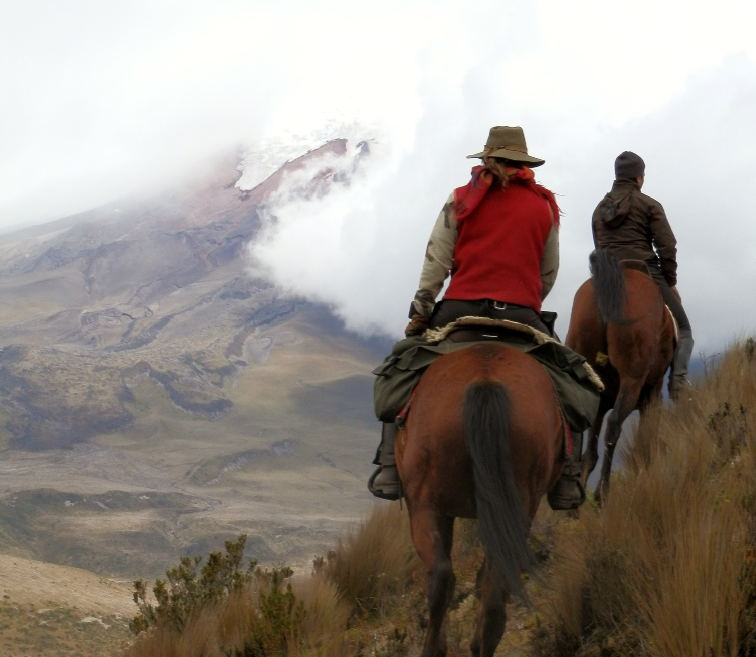64. Day 3 Saly and Eran, approaching Cotopaxi - Copy.JPG