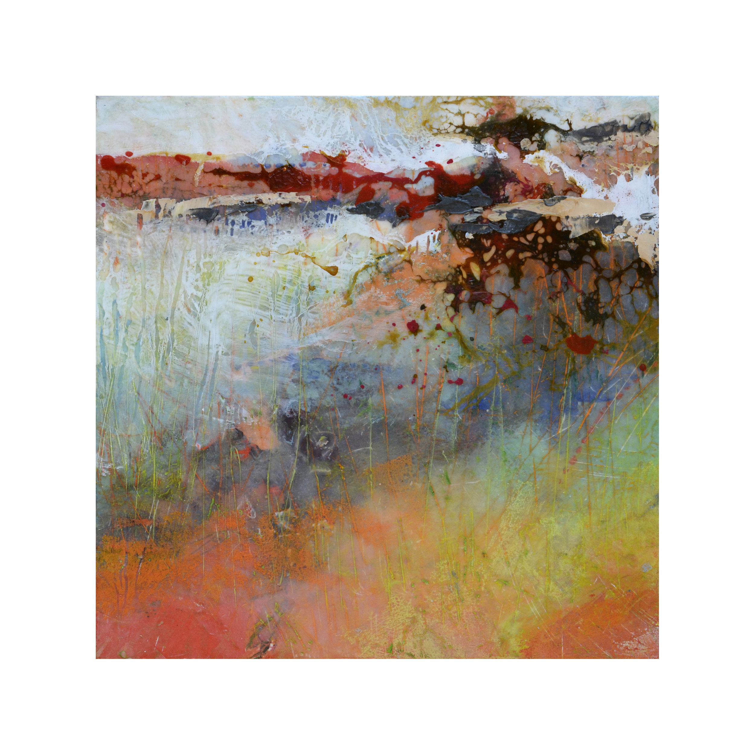 Deeply Truly   12 x 12  Encaustic on Panel  $300