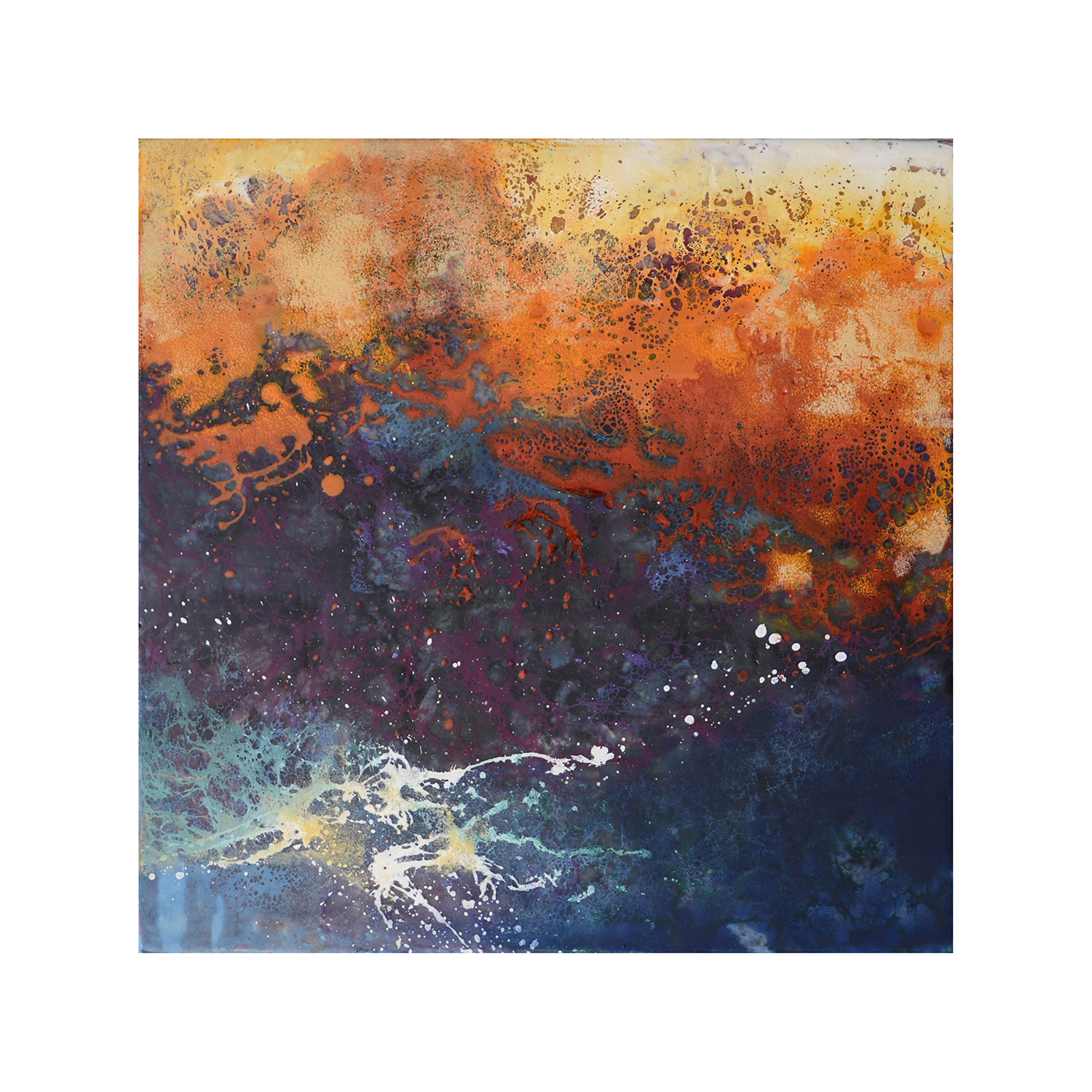 Evening Comes 1   12 x 12  Encaustic on Panel  $300
