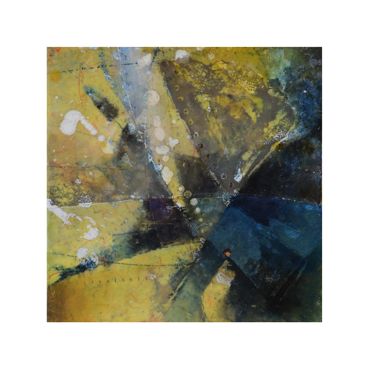 Forces of Nature 3   12 x 12  Encaustic on Panel  $300