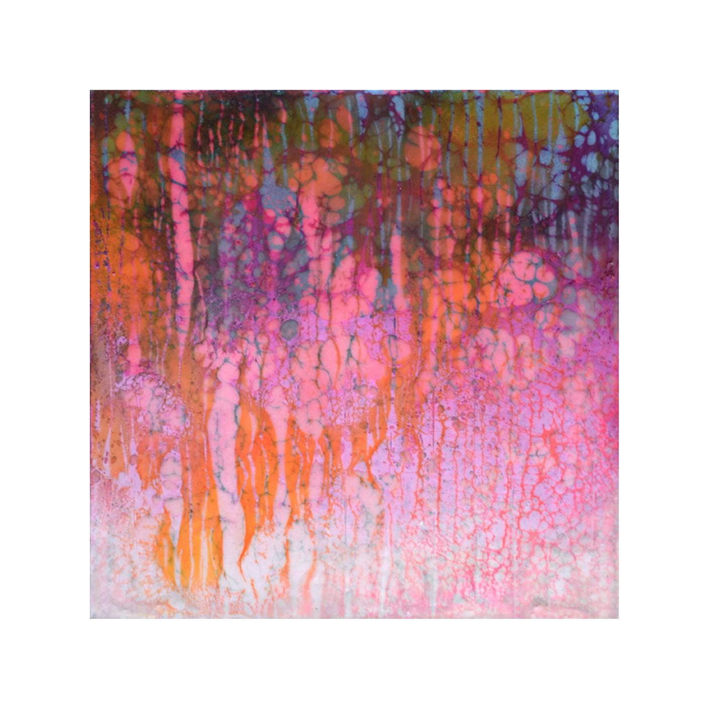 Rose Reverie   12 x 12  Encaustic on Panel  $300
