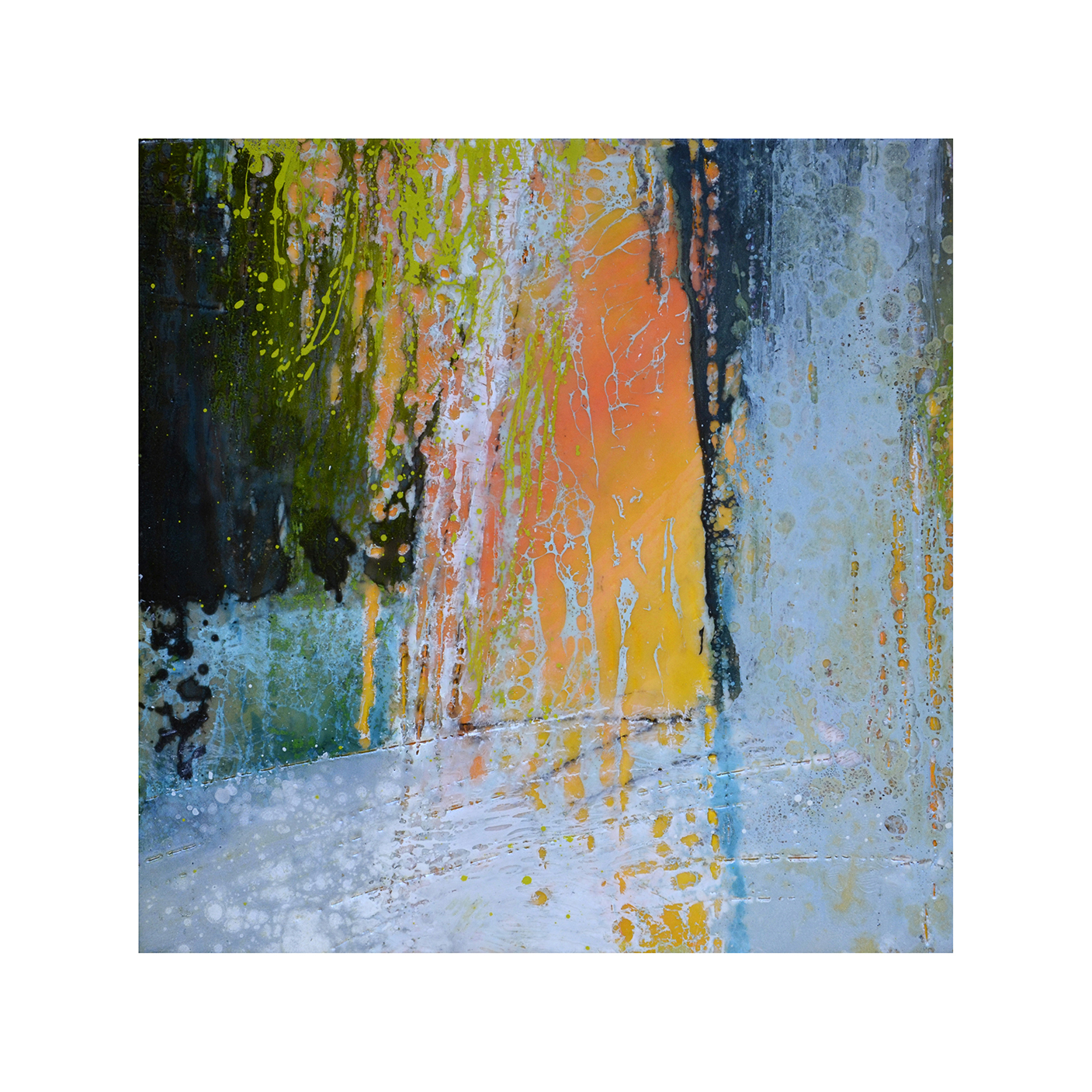 Tropical Immersion 1   12 x 12  Encaustic on Panel  $300