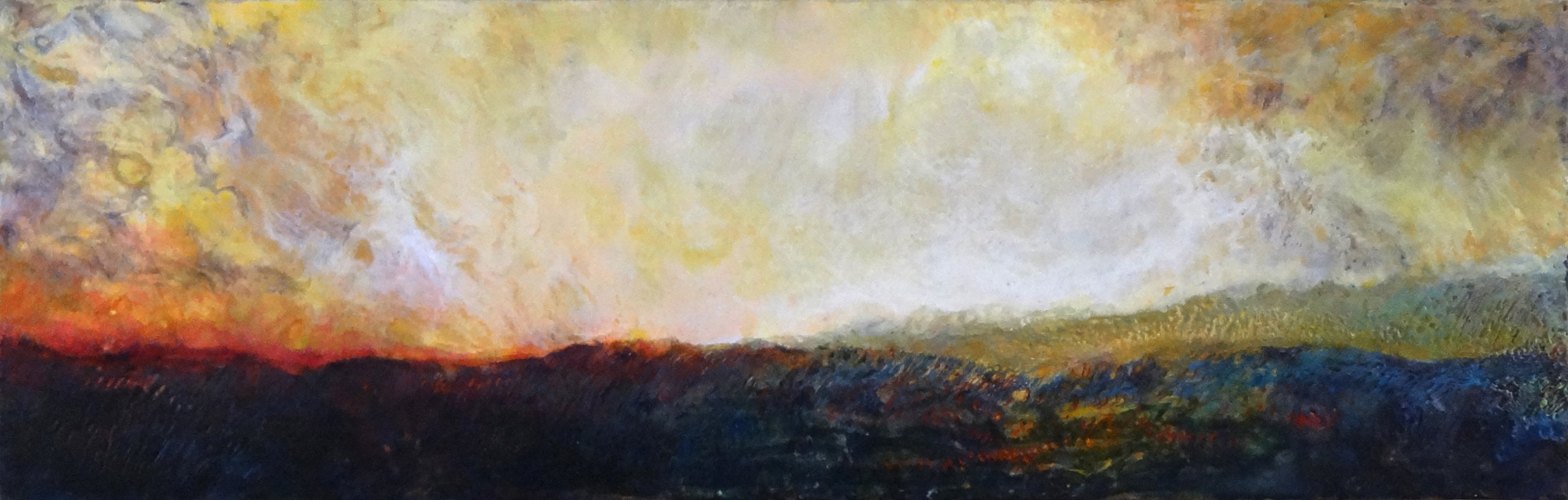 Encaustic Sunrise - SOLD