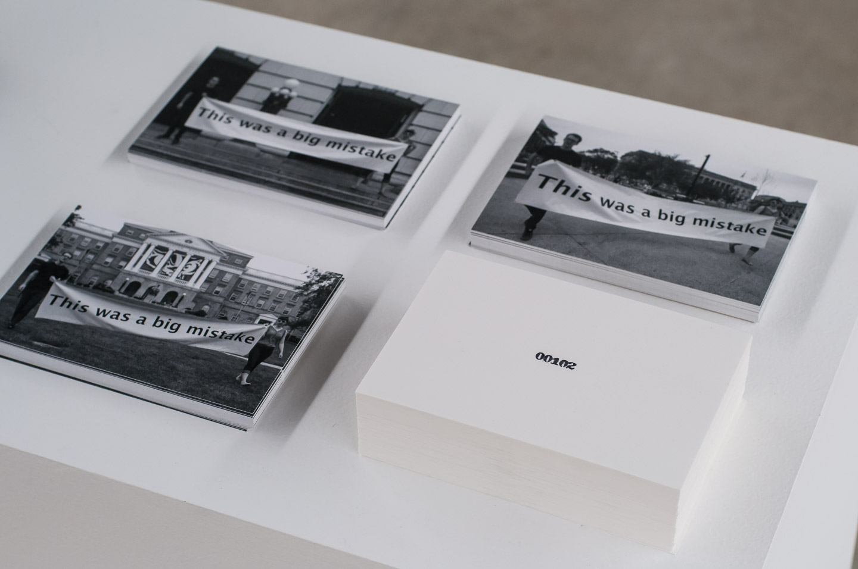 Big Mistake Postcards; Editioned Print