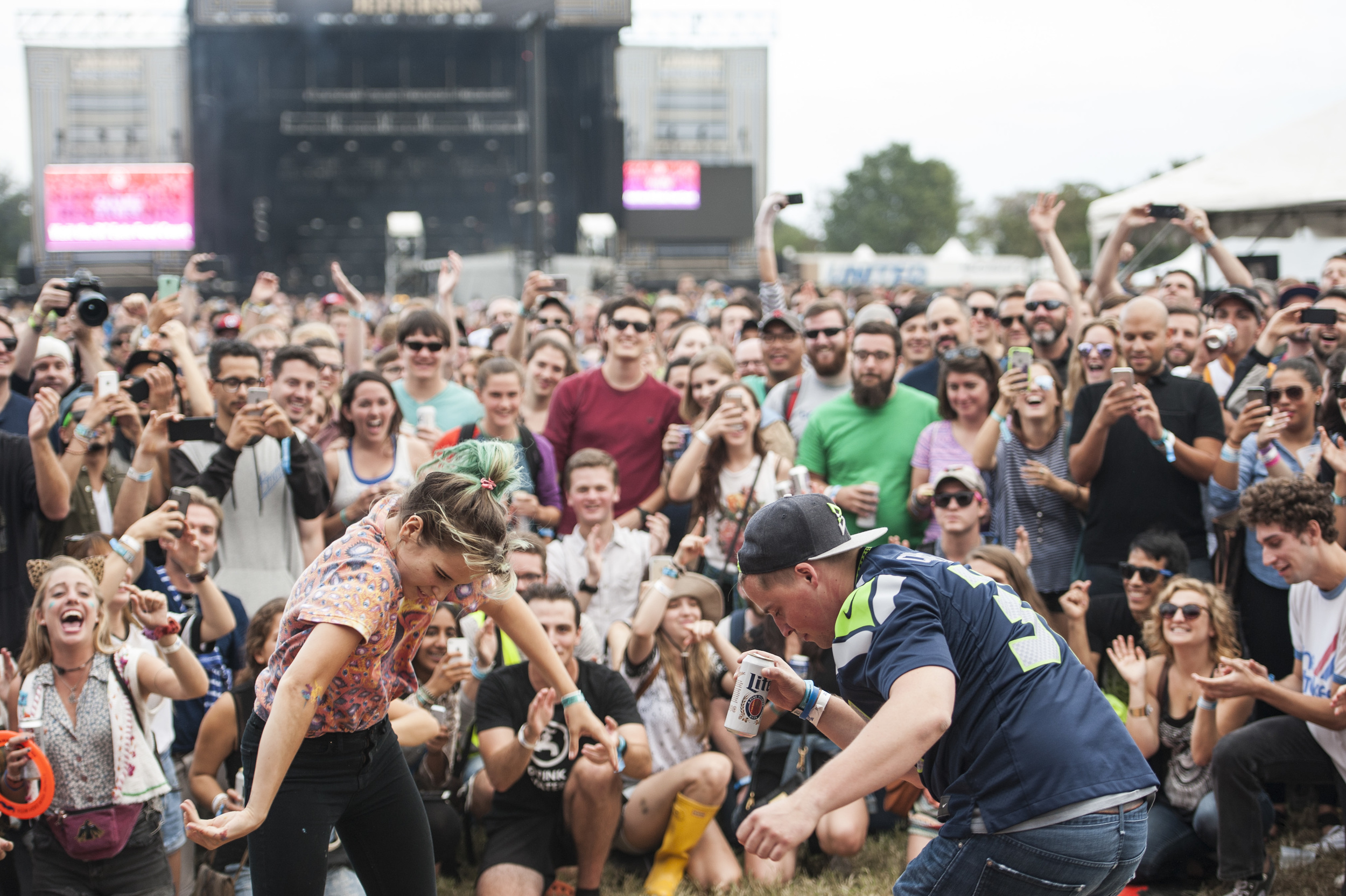 The crowd during Dan Deacon, Landmark