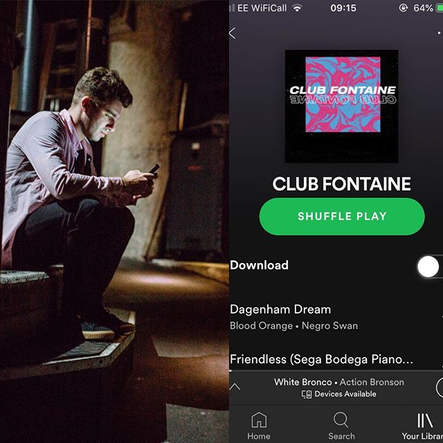 Follow CLUB FONTAINE on @spotify (link in story)