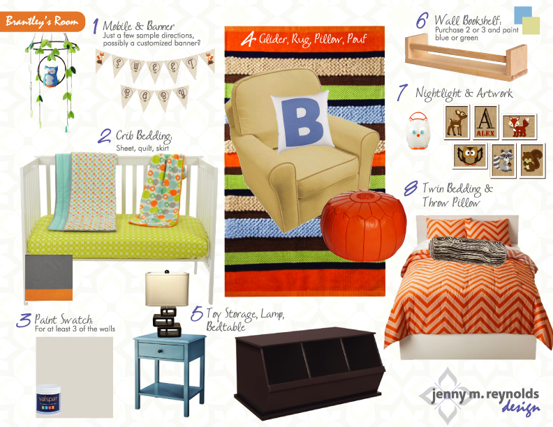 Orange & Blue Nursery eDesign