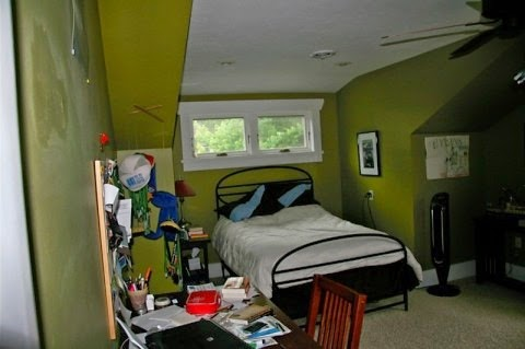 Sylvia's room before we owned our home.