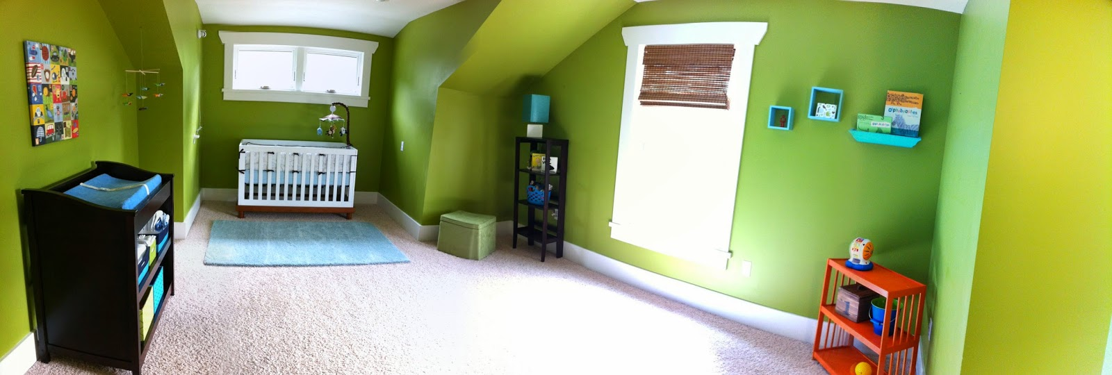 Sylvie's room when it was Carter's nursery.