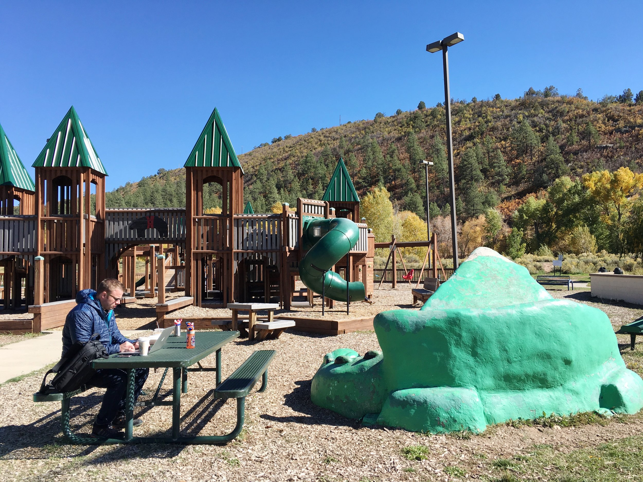 An awesome playground we discovered in Delores, Colorado.